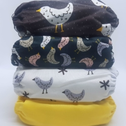 Happy Flute Cloth Nappies 4-Pack Birds
