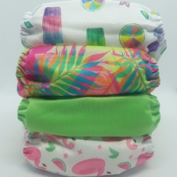 Happy Flute Cloth Nappies 4-Pack Mint Green