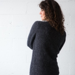 Alpaca Classic Jumper in Charcoal