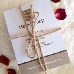All Natural Hemp Soap Patchouli & Rose Geranium
