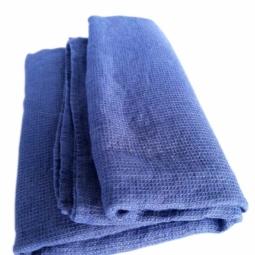 Linen Bath Sheet Washed Waffle – Indigo