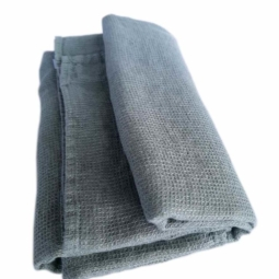 Linen Bath Sheet Washed Waffle – Spa Green
