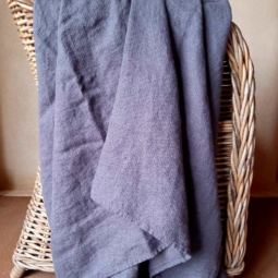 Linen Bath Sheet Washed Waffle – Grey