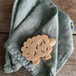 Linen Wash Cloth Set Washed Waffle – Spa Green