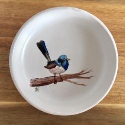 Superb Fairywren on Branch Trinket Dish