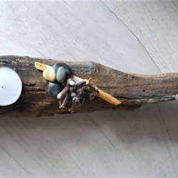 Beach-Inspired Driftwood Candle Holder