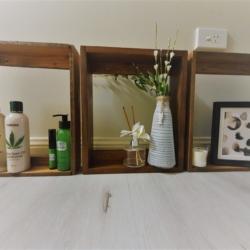 Timber Display Shelves – Western Red Cedar