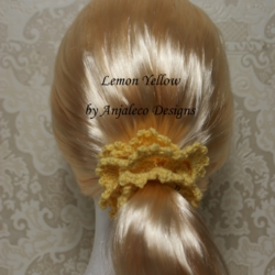 Lemon Yellow – Elegant Hair Scrunchie