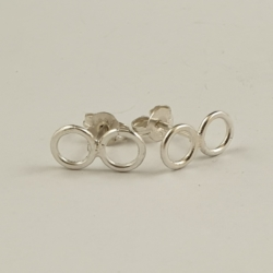 Open Circle Sterling Silver Studs