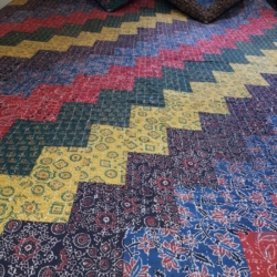 Boho style patchwork bed cover