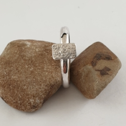Reticulated Sterling Silver Stack Ring