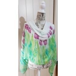 Handpainted silk scarf – Reynalyn scarf