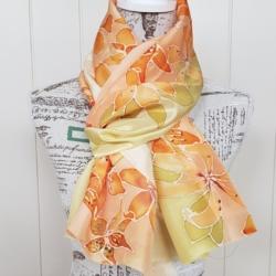 Handpainted silk scarf – Lonetta scarf