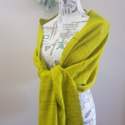 Wool/Silk Shawl Limegreen