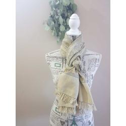 Woollen Scarf/Shawl – Natural dyed beige
