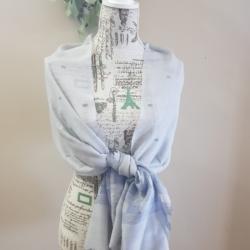 Handwoven woollen Scarf/Shawl – Lavender