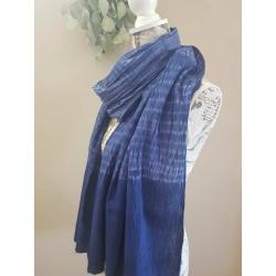 Hand dyed scarf – Nui Shibori navy