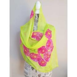 Handpainted silk scarf – That flashy scarf