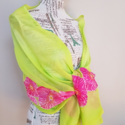 Handpainted silk scarf – That flashy scarf