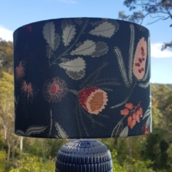 Australian Textiles Designer, Vanessa Holliday, Hand crafted lampshade
