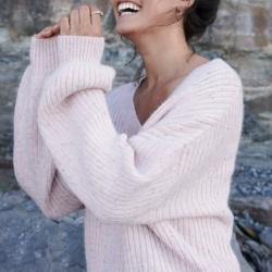 Blair Knit Jumper- Blush