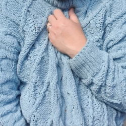 Merridy Cable Knit Jumper-Teal