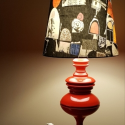 Hand crafted lampshade, created in Bermagui with base