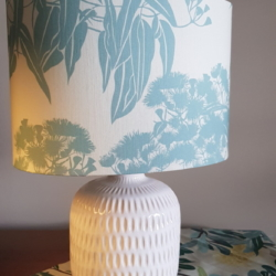 4 leaf clover textiles, hand crafted lampshade