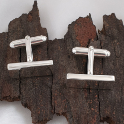 Classic Sterling Silver Solid Cufflinks