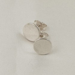 Sterling Silver Polished Circle Studs
