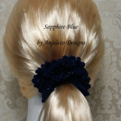 Sparkle – Sapphire Blue – Elegant Hair Scrunchie