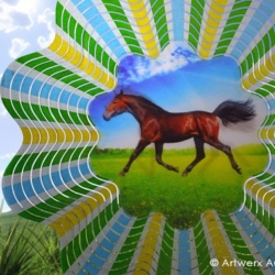 "Classic Collection Wind Spinner – ""HOLOGRAM HORSE"" 30cm"