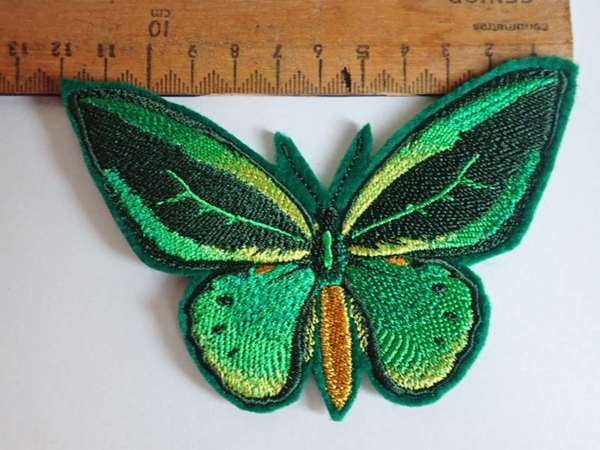 Birdwing butterfly iron on patch