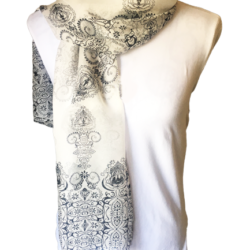 Black and White scarf – FREE POSTAGE – 14 other designs available in our store.