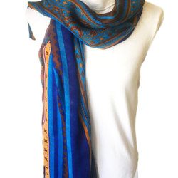 Blue Boho scarf – FREE POSTAGE