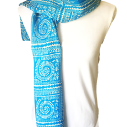 Blue Grids scarf – FREE POSTAGE