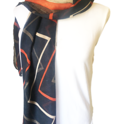 Blue Zig Zag scarf – FREE POSTAGE – 14 other designs available in our store.