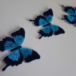 Blue Ulysses Butterfly iron on patch