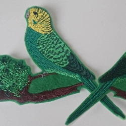 Budgie iron on patch