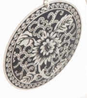 Black and silver patterned earrings – ONLY 2 PAIR LEFT – FREE POSTAGE