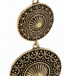 Double disc gold earrings – LAST PAIR – FREE POSTAGE