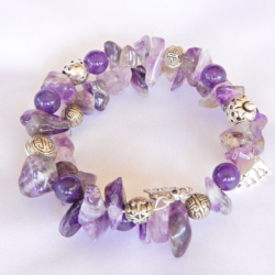 Amethyst Gemstone Wrap Bracelet
