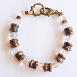 Bronze & Glass Bracelet