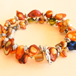 Coloured Freshwater Pearl Wrap Bracelet