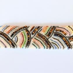 Hand Beaded Bracelet Cuff