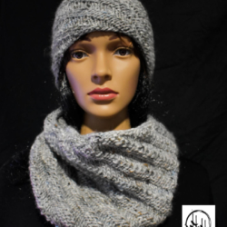 """Amager"" Hand Knit Slouch/Slouchy Beanie Hat in Super Soft Wool, Silk & Alpaca Knit super light"