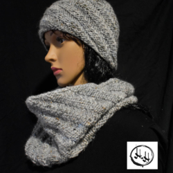 """Amager"" Hand Knit Snood / Cowl in Super Soft Wool, Silk & Alpaca Knit super light"