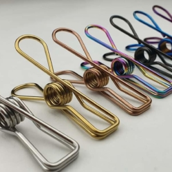 Coloured Stainless Steel Marine Grade Clothes Pegs