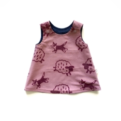 Reversible Pink Sheep Dog Dress