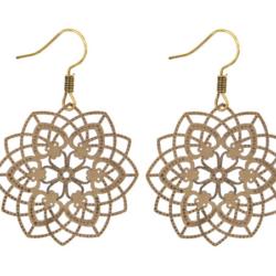 Gold filigree earrings – LAST PAIR – FREE POSTAGE
